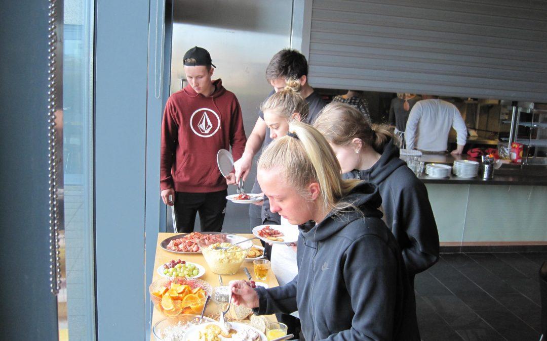 Stjanað við útskriftarnemendur