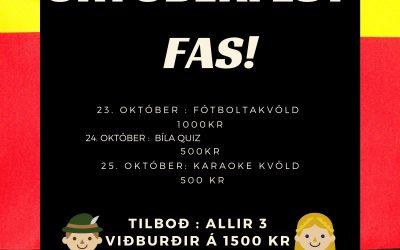 Viðburðaveisla hjá NemFAS